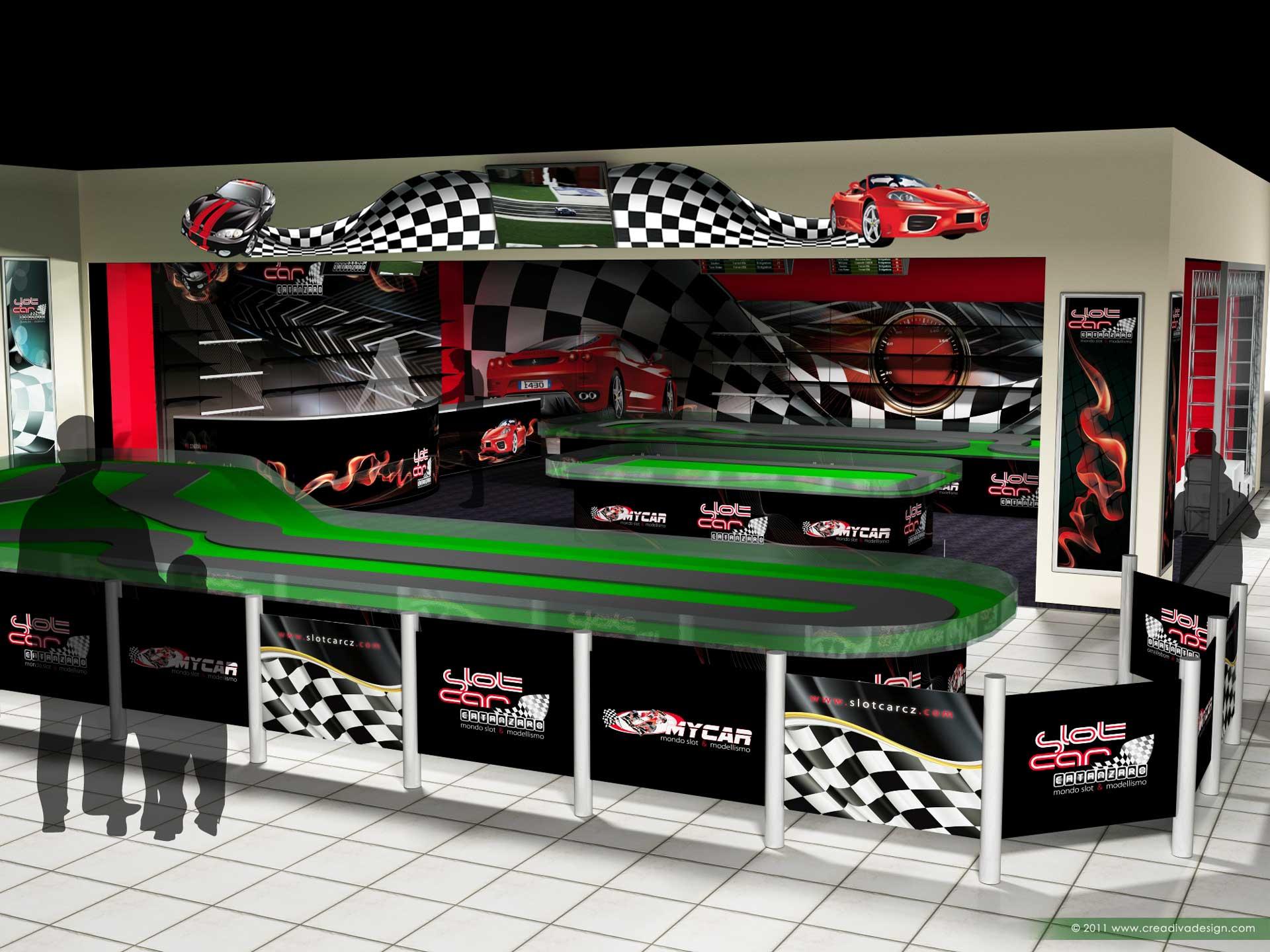 progetto 3d interior design negozio studio logo e sito web